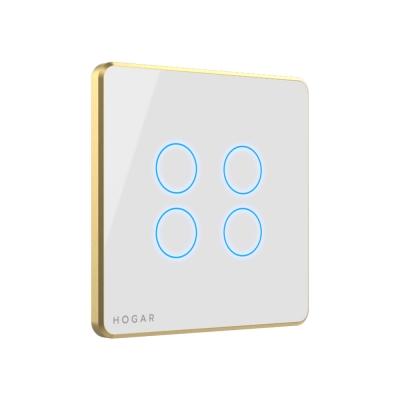 کلید لمسی چهار پل هوشمند هوگر | Hogar - کلید پرده لمسی دو کانال